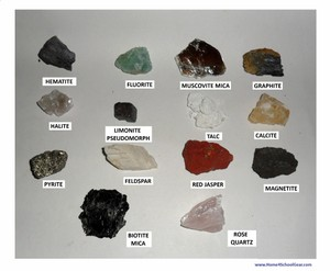 rock and mineral identification chart with pictures pdf