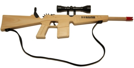 Big M-16 Rubberband Gun