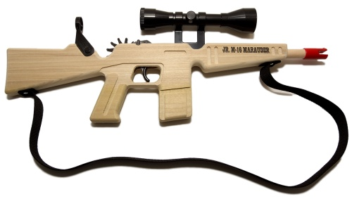 M-16 Rubberband Gun