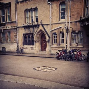 Martyr's Memorial, Oxford by John Calvin Young The stones in the middle of the street mark the spot Latimer and Ridley were martyred.