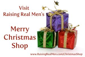 Merry Christmas Shop Gifts Poster with Link Small