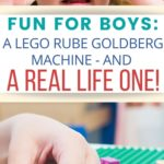 Here's an amazing video your boys are going to love. This Rube Goldberg contraction was made entirely of Legos and took 600 hours to build. Fun for Boys: A Lego Rube Goldberg Machine - and a Real Life One!