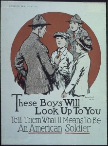 WWI American Soldier Recruitment Poster