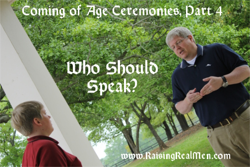 Coming of Age Ceremonies Part 4 Who Speaks Hor
