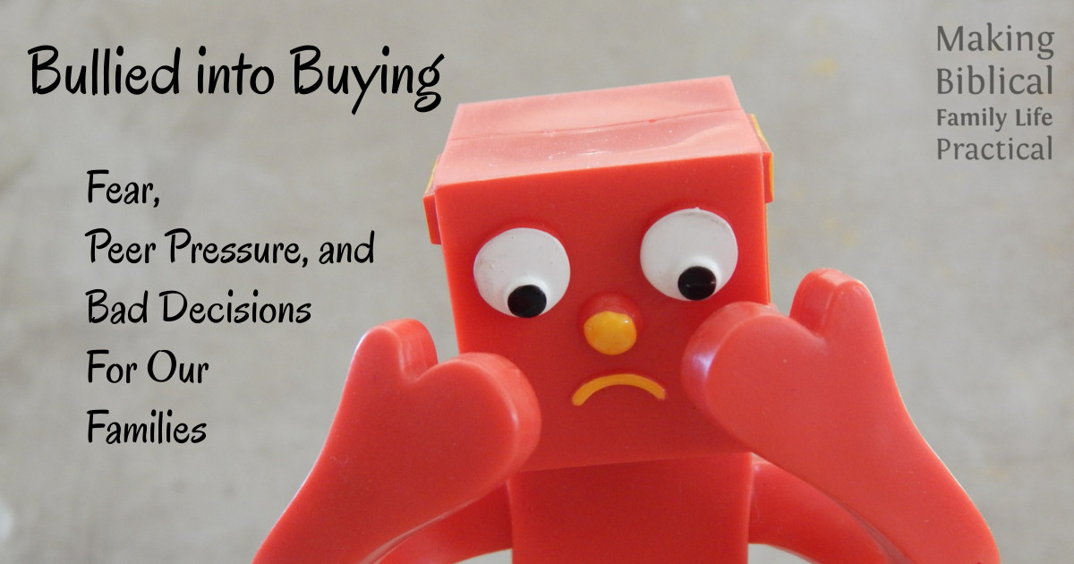 Blog - Bullied into Buying - H