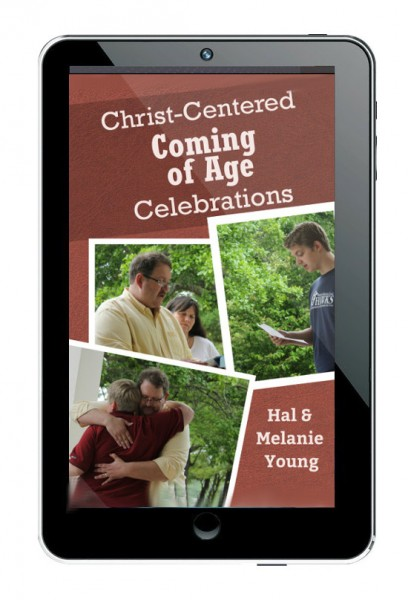 Christ-Centered Coming of Age ebook cover – on tablet