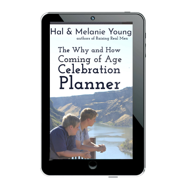 Coming of Age Planner cover – on tablet 600×600