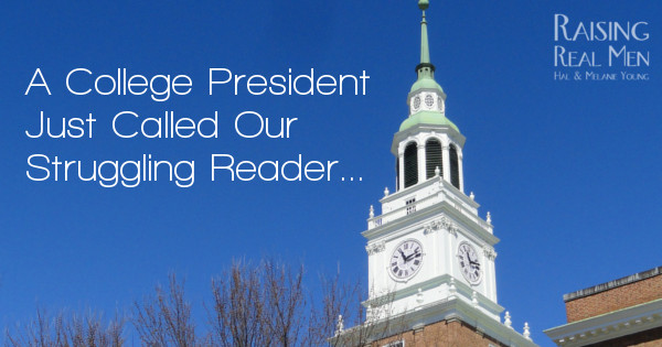 RRM College President Struggling Reader