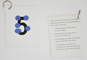 Flashcards with numbers and graphic mnemonics