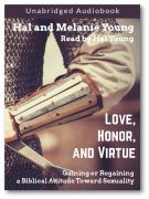 Love Honor Virtue Audiobook Front Cover with Shadow