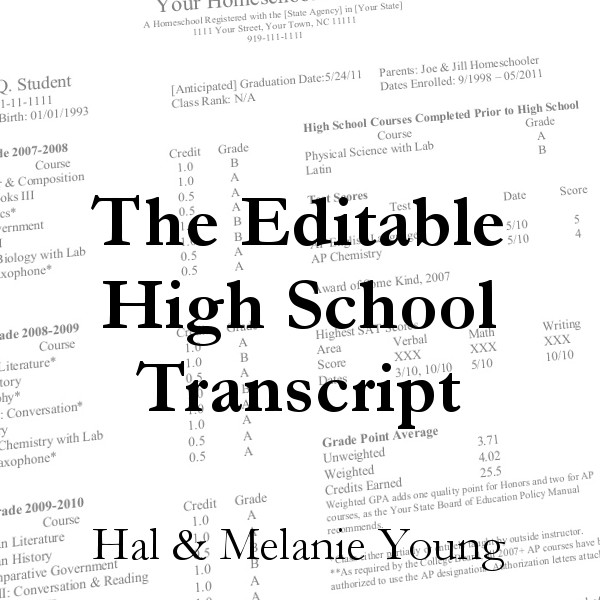 Editable Transcript Graphic