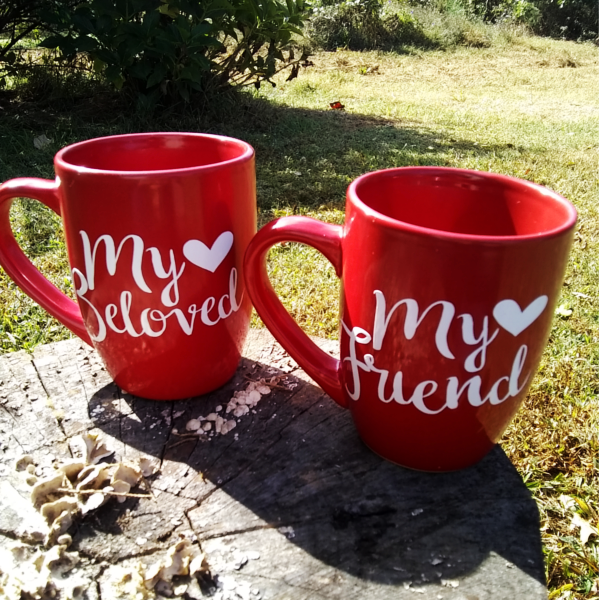 My Beloved and My Friend Mugs