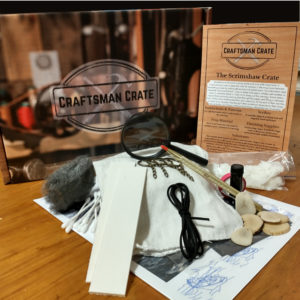 The Scrimshaw Crate - a photo of all the contents